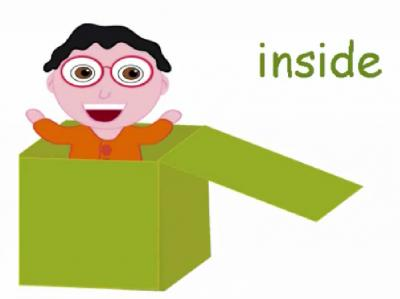 Inside clipart preposition 1 Flashcards prepositions page place