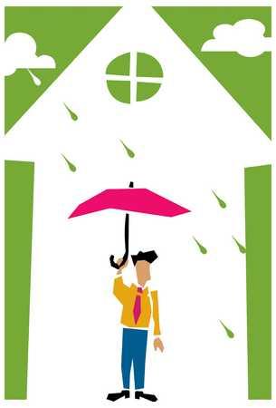 Inside clipart rainy day Day Day Illustration Inside Stock