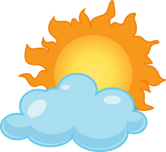 Clouds clipart cloudy weather Sun Sun and Clipart Inspiration