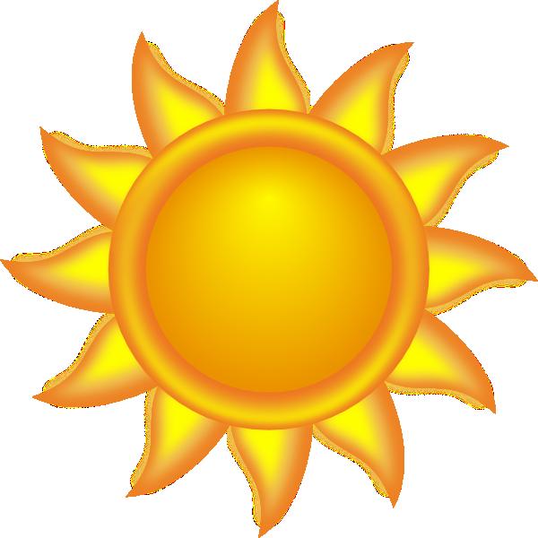 Drawn sunshine Vector art Sun art clip