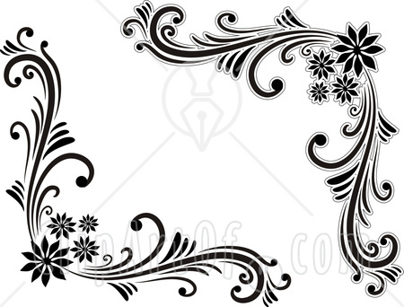Inspirational clipart corner sun Black borders Editing corner Beautiful