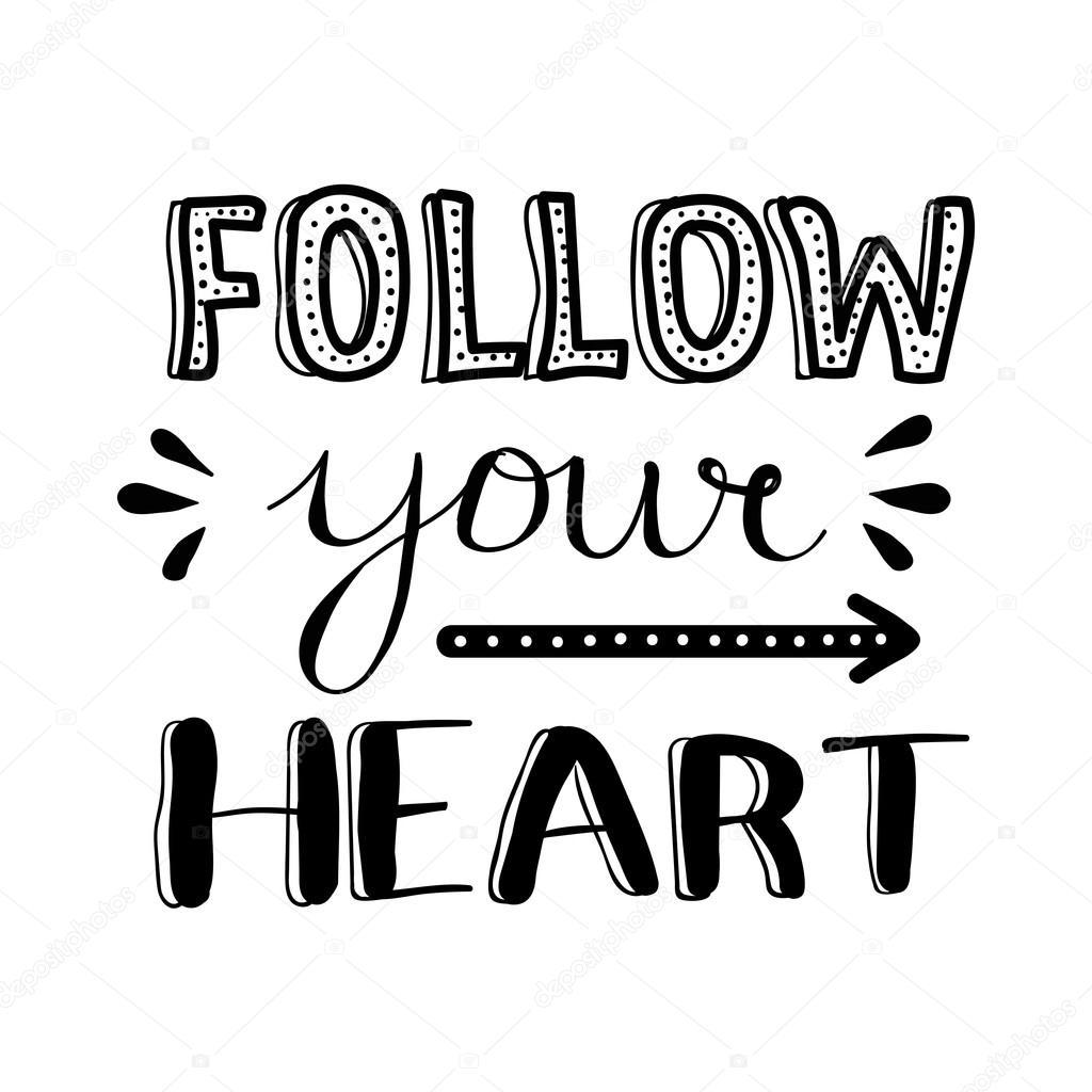 Inspirational clipart hand heart Motivational Modern inspirational drawn Ink