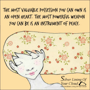 Inspirational clipart open heart The valuable weapon possession open