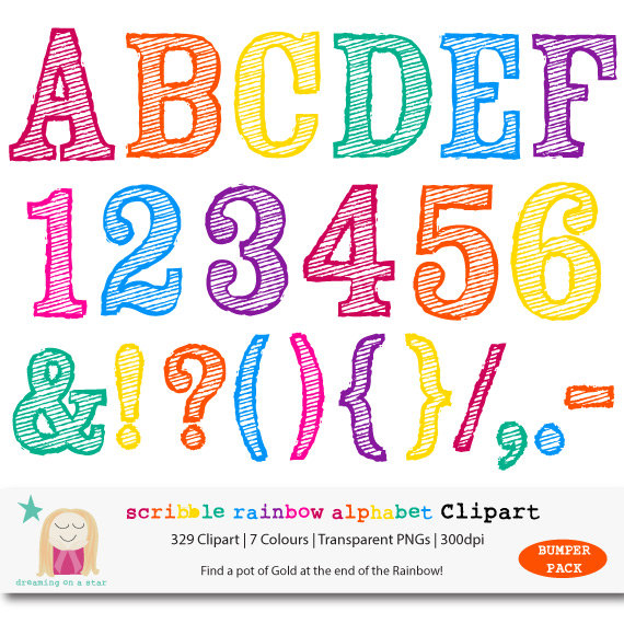 Inspirational clipart rainbow Alphabet Rainbow Clipart $5 BUMPER