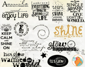 Motivational clipart life quotes Art Digital Title Positive Typography