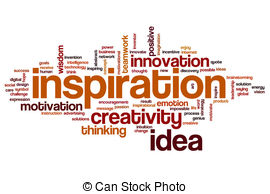 Inspirational clipart word Inspiration cloud word quote