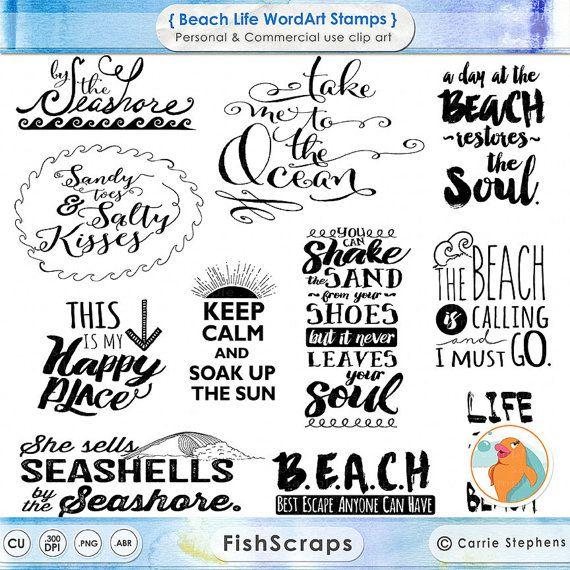 Beach clipart life Pinterest Art Quote DIY Typography