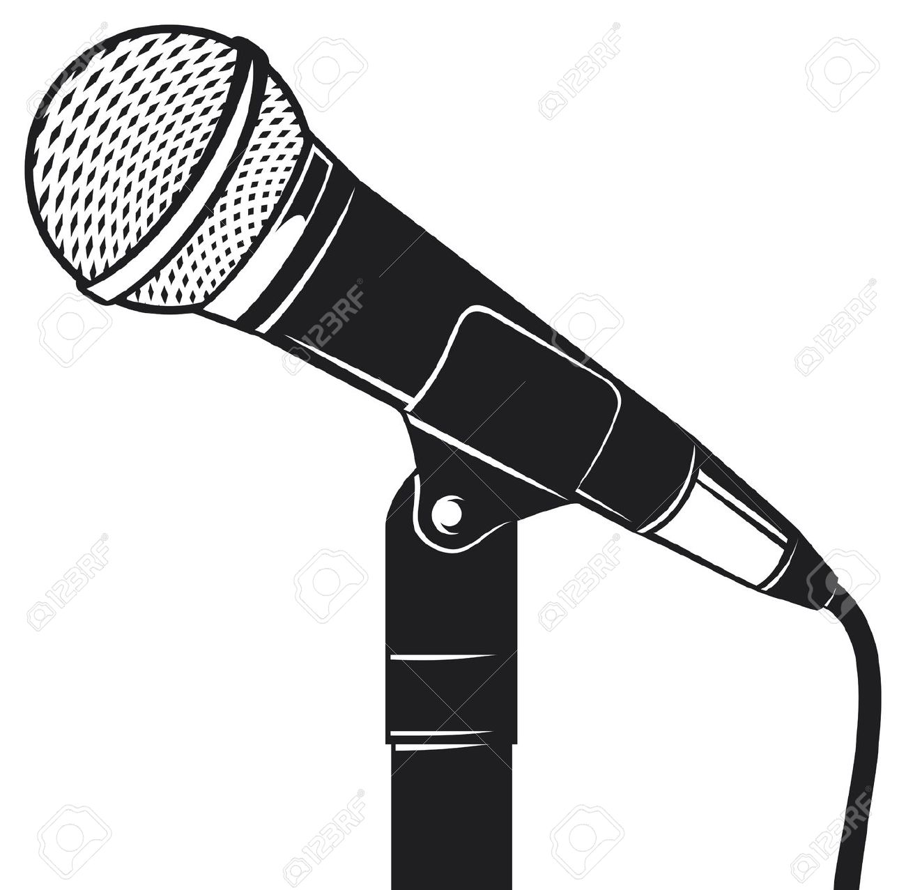 Microphone clipart source information #1