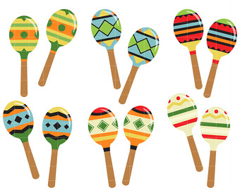 Single clipart maraca Making for Crafts Maracas Toppers