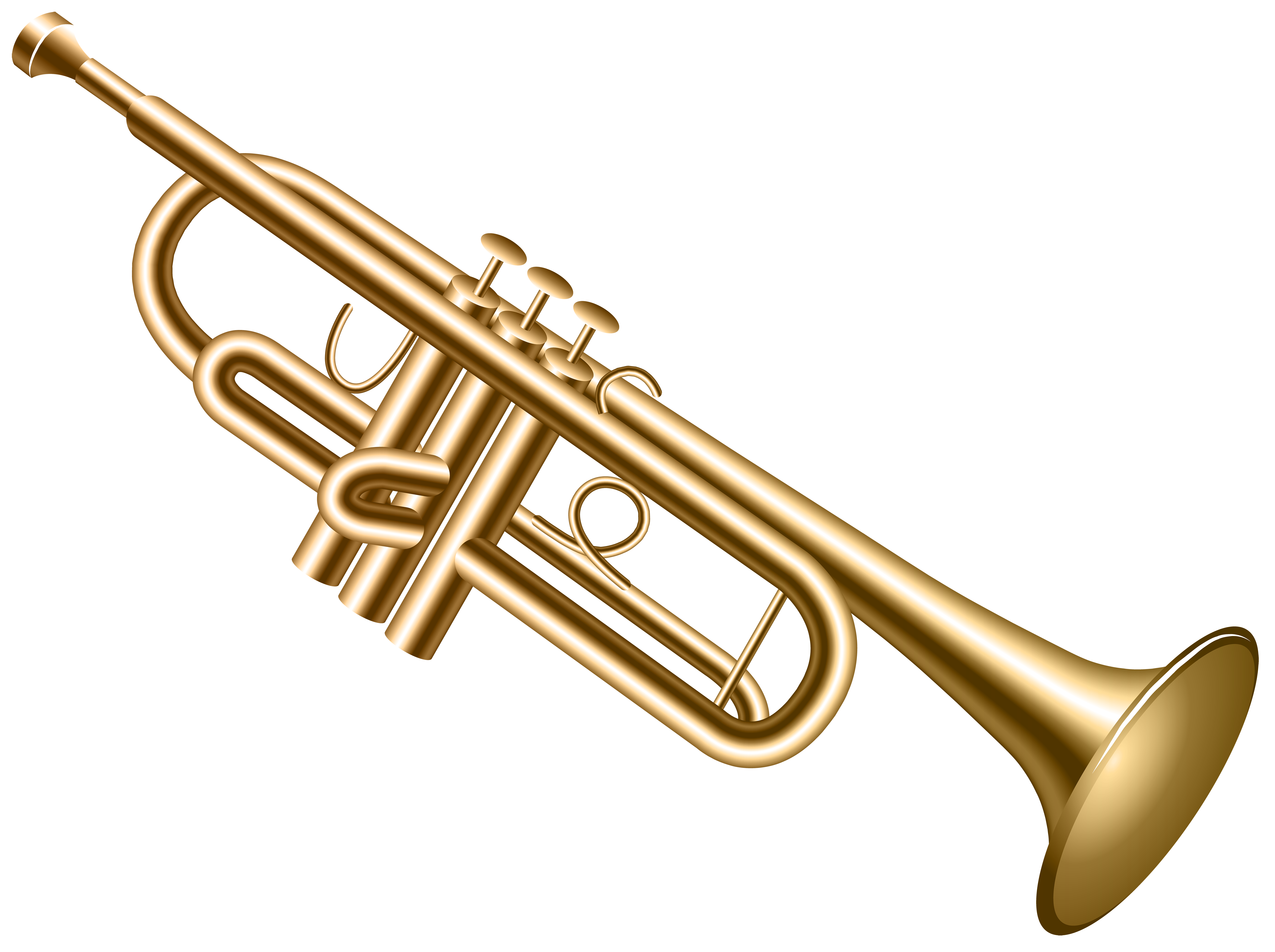 Brass clipart summer music Clipart of Clip Trumpet image