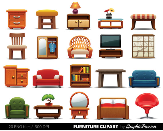 Interior clipart Vector Home Furniture Download clipart