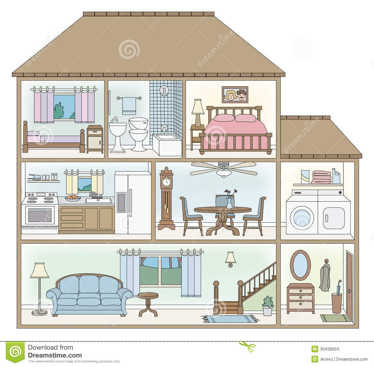 Bungalow clipart inside house Drawing House interior Inside Design