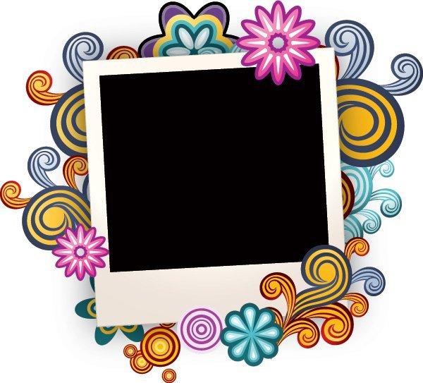 Interior Designs clipart colorful swirl Frame Colorful Swirls Photo Vector