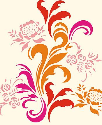 Interior Designs clipart colorful swirl Stencil White Pinterest Acanthus Wallpaper
