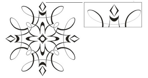 Interior Designs clipart coreldraw Coloring the loops in objects:
