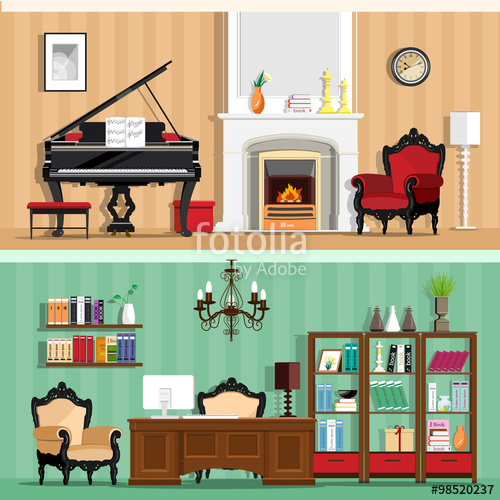Interior Designs clipart coreldraw Furniture of with Set house