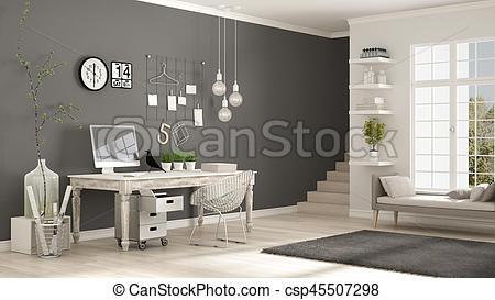 Interior Designs clipart corner Minimalist Home scandinavian Illustration of