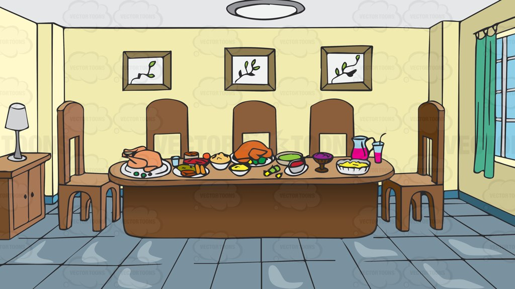 Lounge clipart dining room  Full #vector Table Clipart