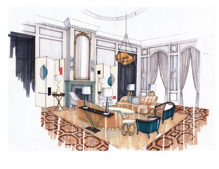 Interior Designs clipart dining room Interior architecture interior sketches stunning