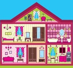 Interior Designs clipart modern furniture  cut dollhouse house doll
