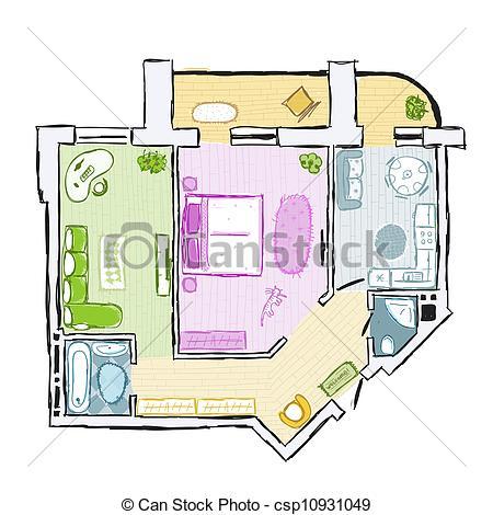 Interior Designs clipart hand sketching Hand apartment design apartment