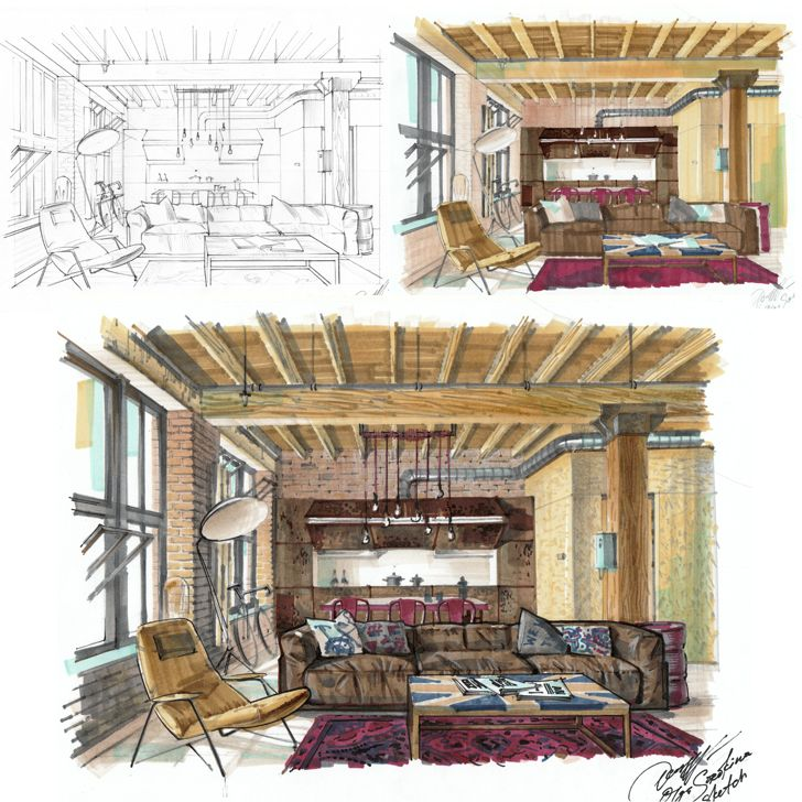 Interior Designs clipart hand sketching Images rendering Pinterest on on