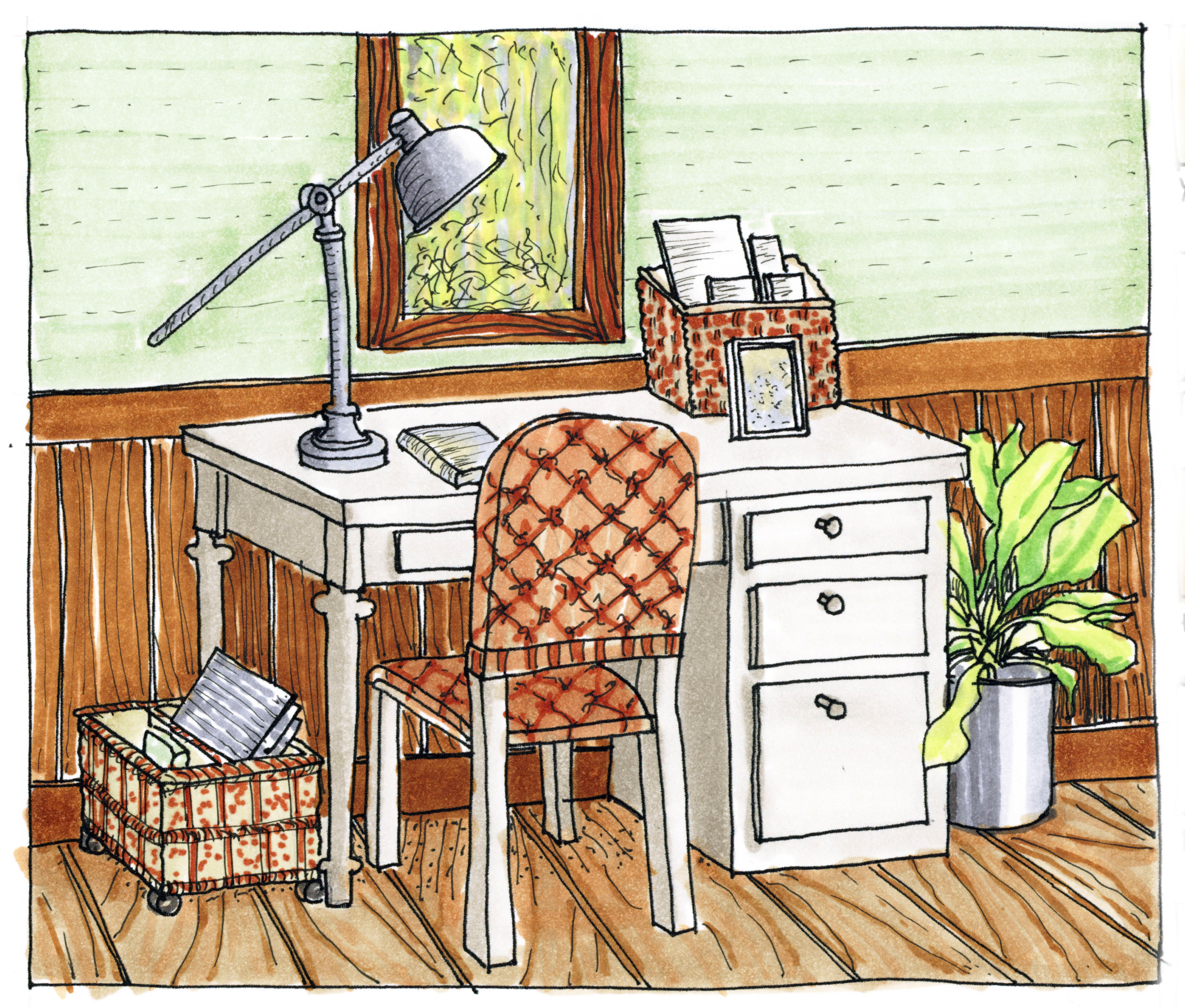 Interior Designs clipart hand sketching To Copic practice interior Working