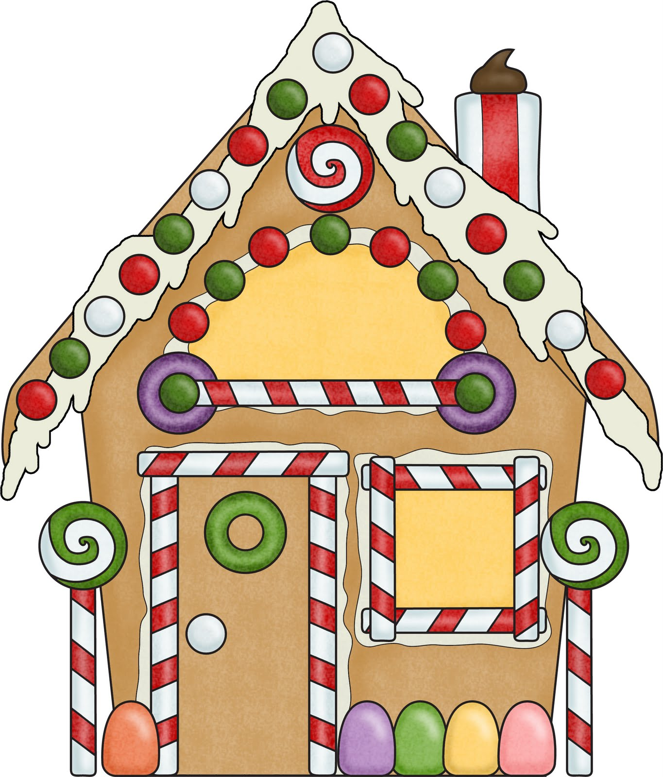 Candy Cane clipart gingerbread house candy ClipartAndScrap Art Clip clip house