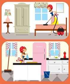 Interior Designs clipart housekeeping Cartoon Cleaning AND  LAUNDRY