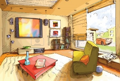 Lounge clipart interior design #5