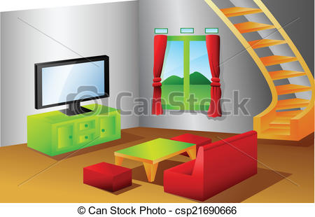 Living Room clipart standard living Vector house vector of living