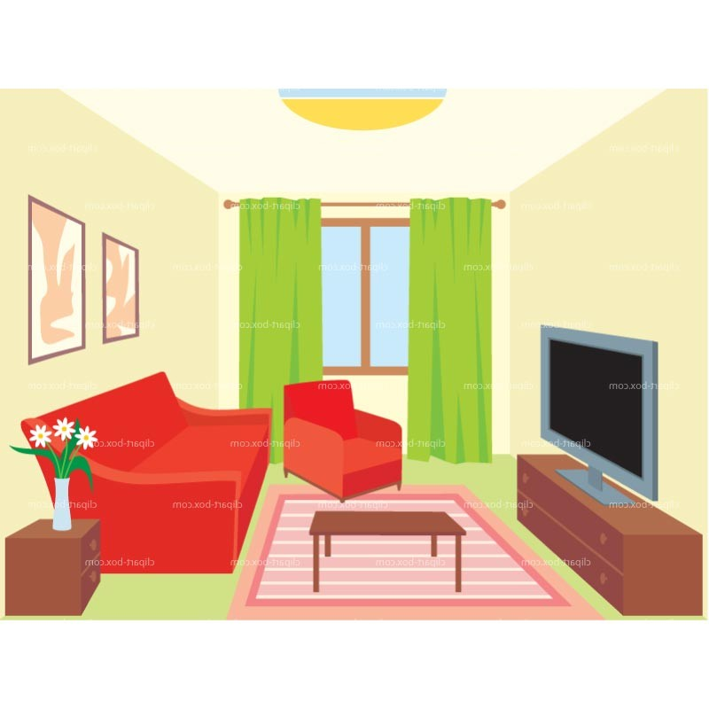 Living Room clipart sitting room Clipart decor Interior clipart decor