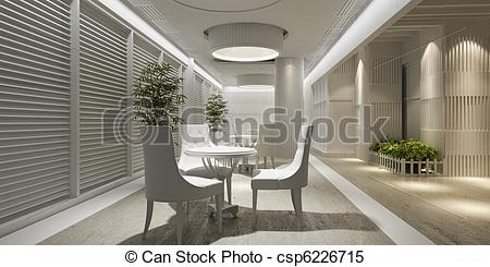 Interior Designs clipart lounge Interior blank design white Illustrations