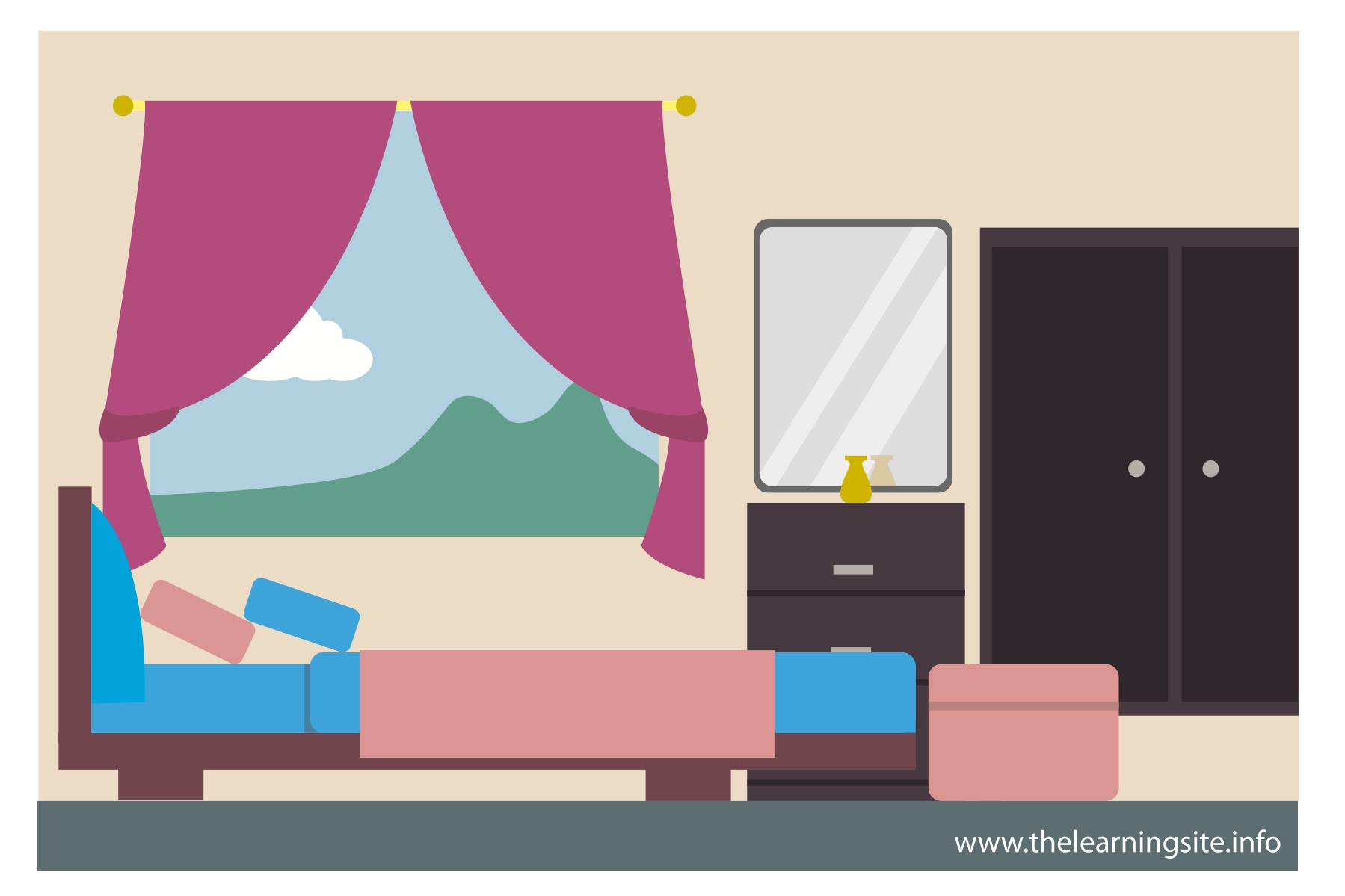 Bed clipart badroom Room in Small Decor Couple