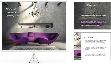 Interior Designs clipart powerpoint presentation Template  ID Interior 0000005571
