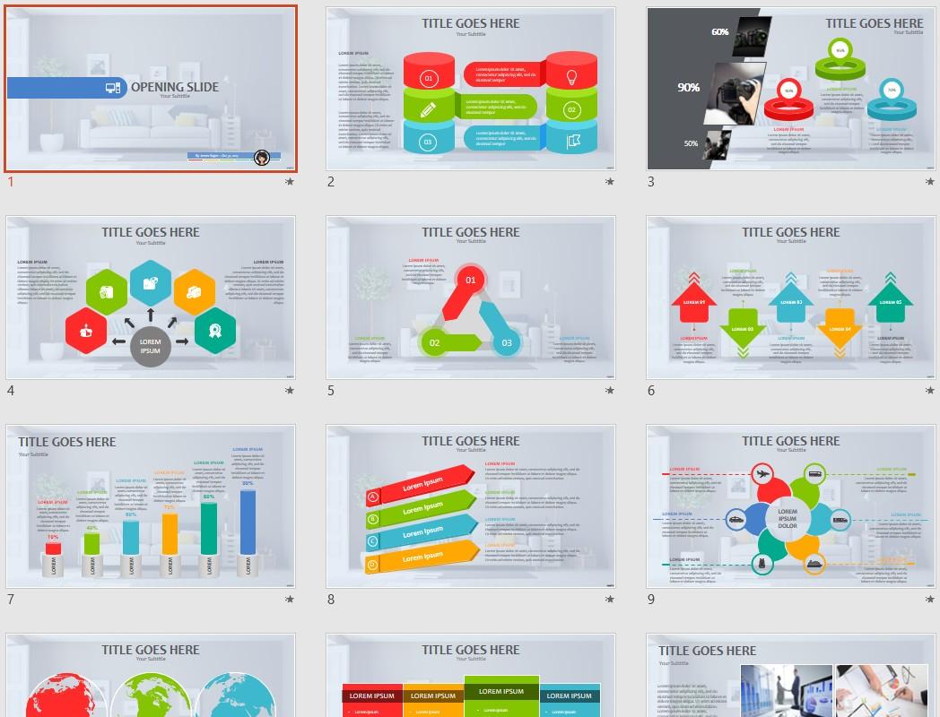 Interior Designs clipart powerpoint theme Themed  PowerPoint SageFox interior