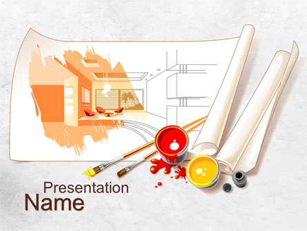 Interior Designs clipart ppt free download Template  PowerPoint 10092 Interior