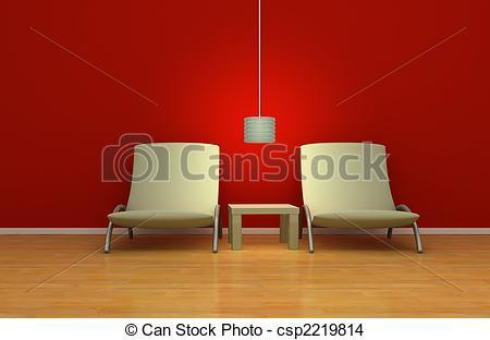 Interior Designs clipart Simple of simplistic modern Illustration