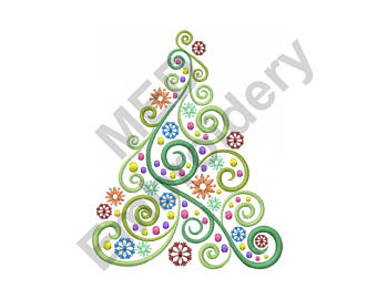 Interior Designs clipart swirl Tree Christmas christmas Swirl Embroidery
