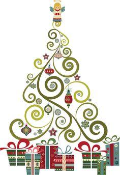 Spiral clipart christmas tree Trees Swirly art Tree Fun