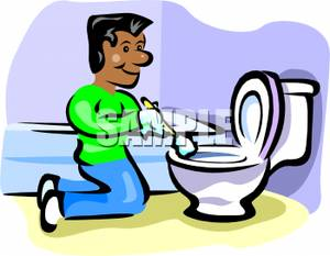 Interior Designs clipart toilet cleaning A Toilet a Man Clipart