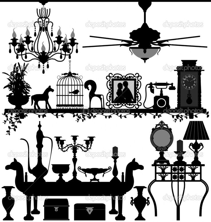 Interior Designs clipart vintage Home images Antique Design (