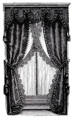 Interior Designs clipart vintage Art Victorian Clip Draperies Clip