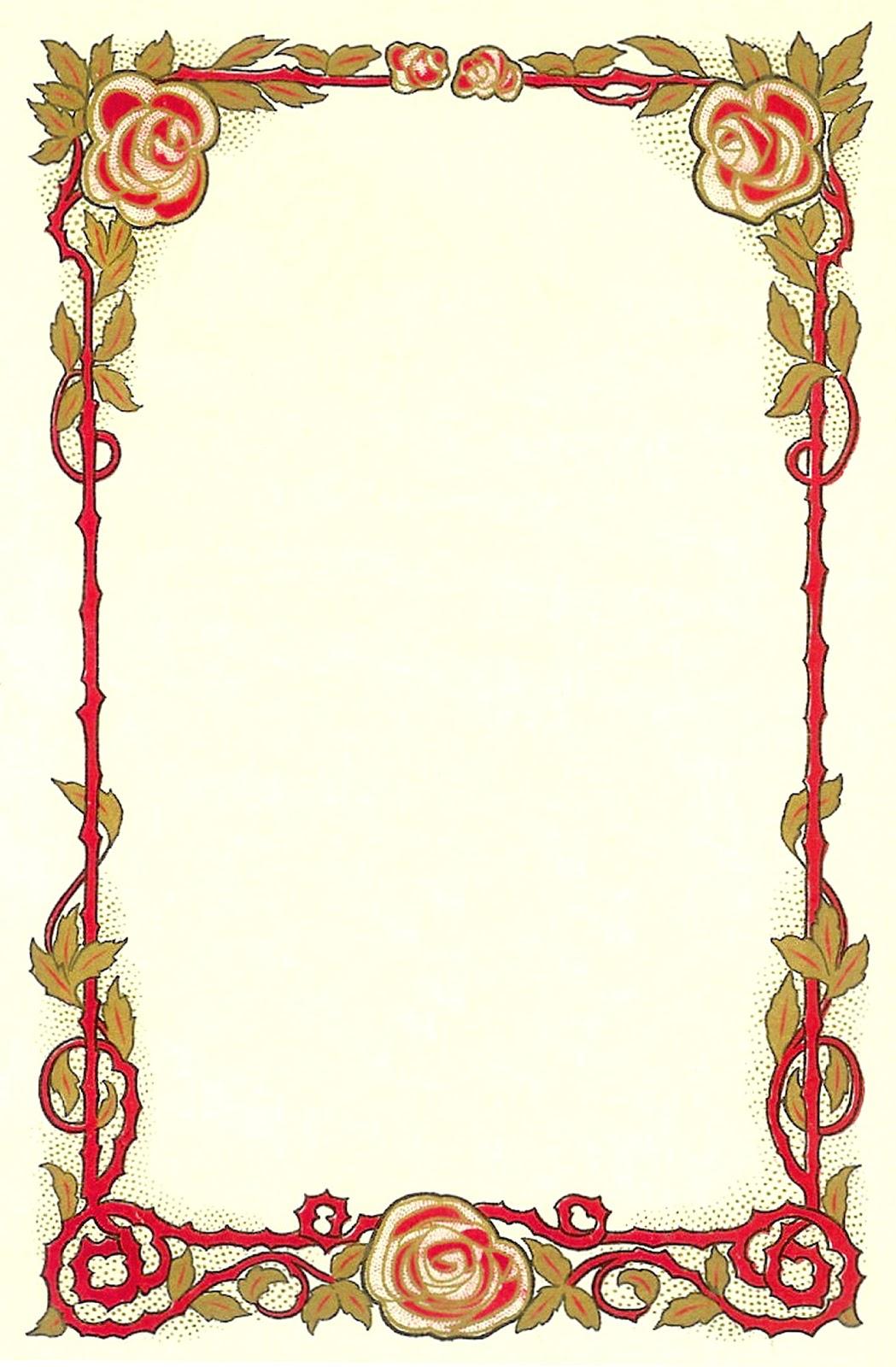 Interior Designs clipart vintage Flower Frame Graphic Clip of