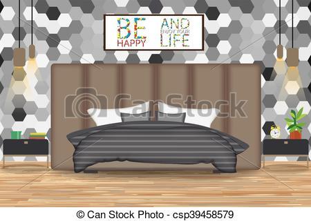Interior Designs clipart wallpaper Illustration  Vectors Bed Vector