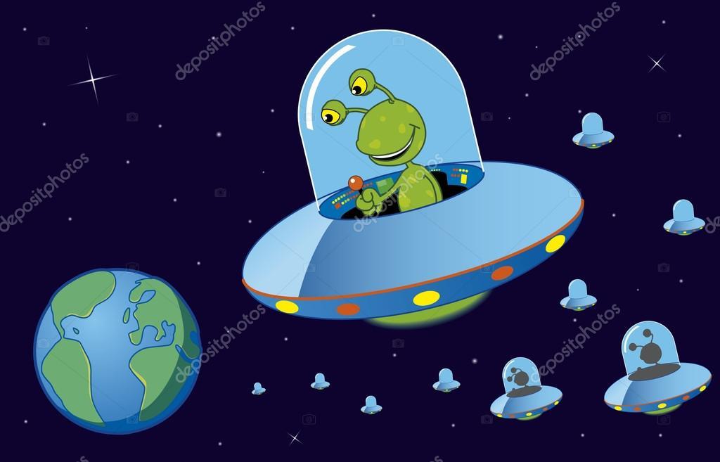 Invasion clipart Cartoon Cartoon Canyon Spaceship Car