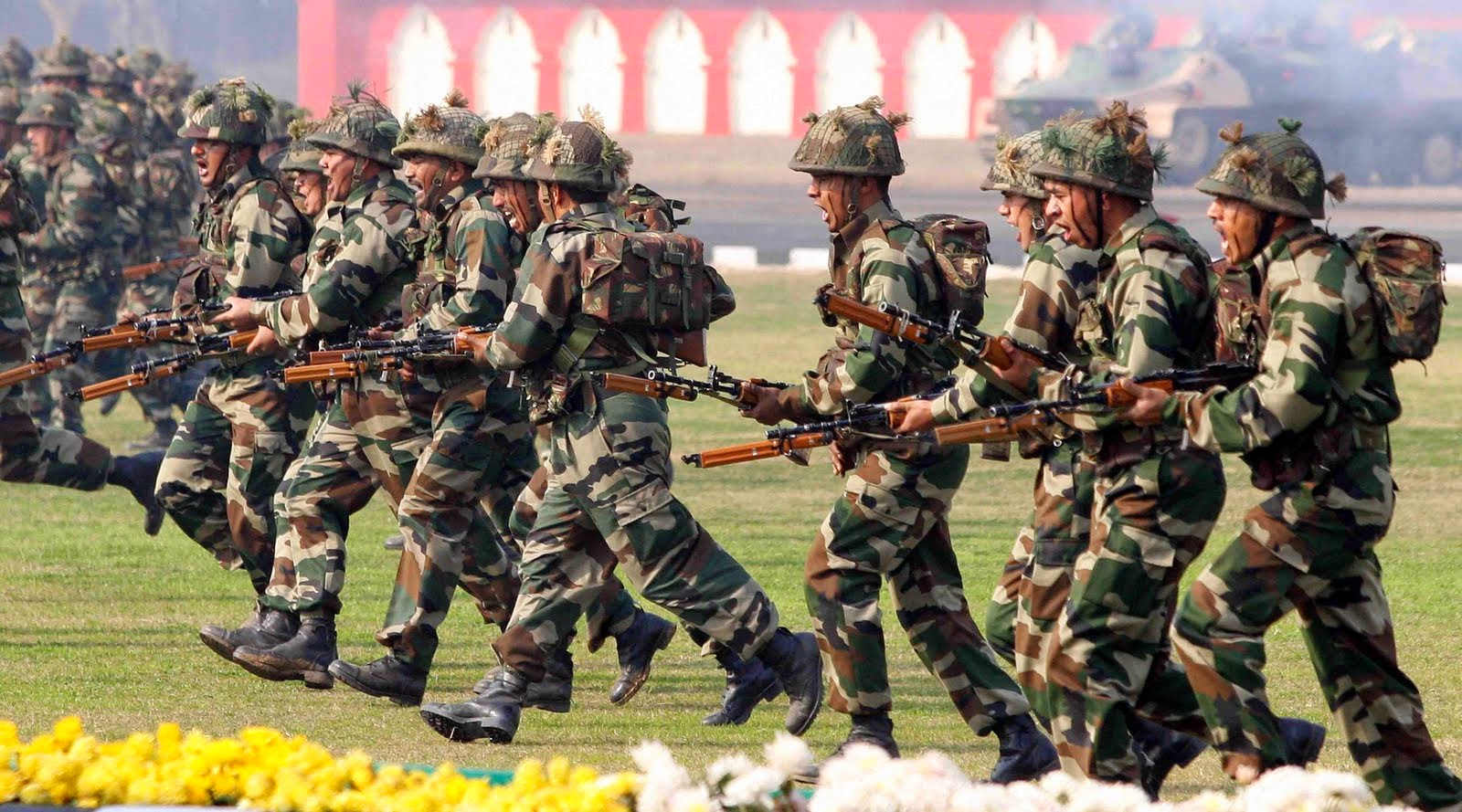Invasion clipart indian army 'assault' ~ against Military Civilians