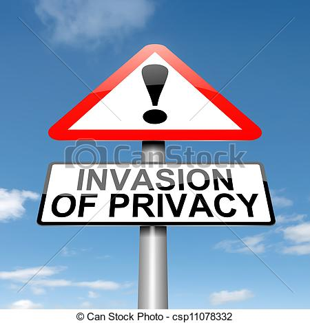 Invasion clipart privacy Illustration warning Art a privacy