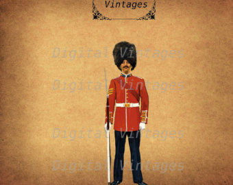 Invasion clipart queen's guard British Digital Clip Antique Download
