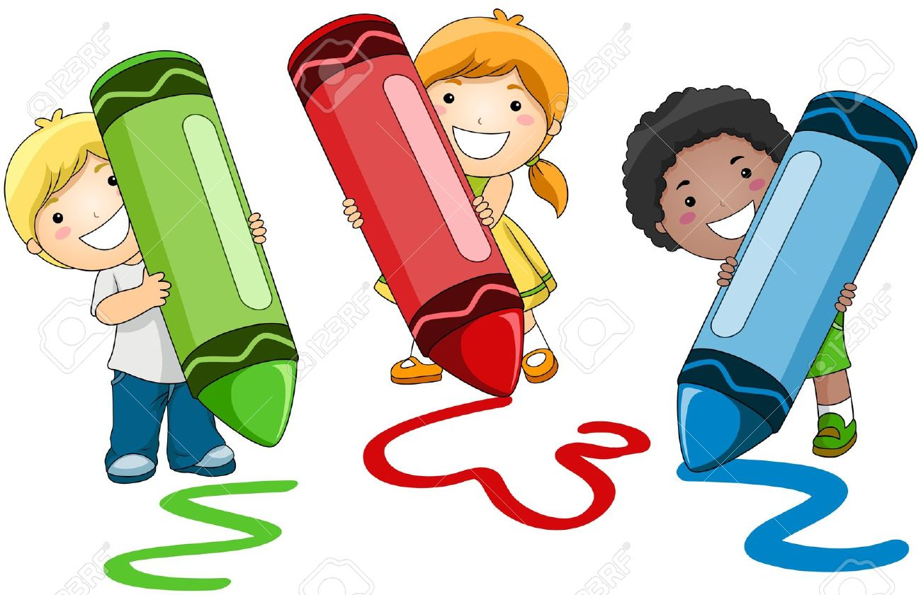 Crayon clipart for kid Photo Stock Children Crayons com